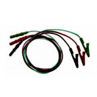 "Alligator-clip Lead Wire Set  - Long 24"" (61cm)"